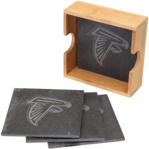 Atlanta Falcons 4-Pack Slate Square Coaster Set