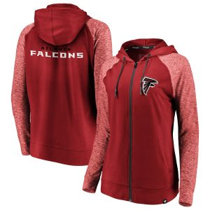 Atlanta Falcons Women's Made to Move Color Blast Full-Zip Raglan Hoodie