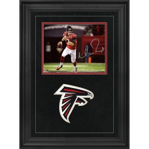 Autographed Atlanta Falcons Matt Ryan Deluxe Framed 8″ x 10″ Red Scramble Photograph
