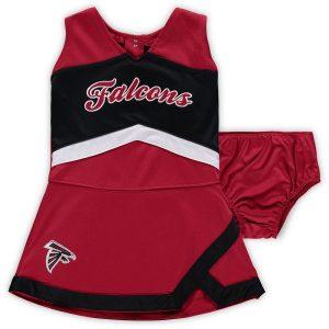 Girls Infant Atlanta Falcons Red/Black Cheer Captain Jumper Dress