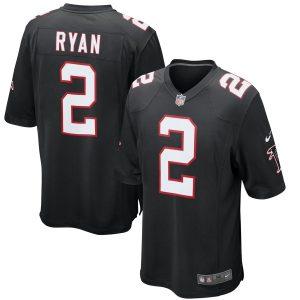 Mens Atlanta Falcons Matt Ryan Nike Black Alternate Game Jersey