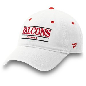 Men's Atlanta Falcons White Classic Bar Adjustable Hat