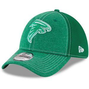 Men's Atlanta Falcons New Era Kelly Green St. Patrick's Day Classic Shade Neo 39THIRTY Flex Hat