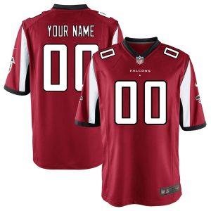 Men's Atlanta Falcons Nike Red Custom Game Jersey