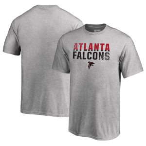 Youth Atlanta Falcons Ash Iconic Collection Fade Out T-Shirt