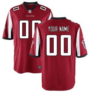 Youth Atlanta Falcons Nike Red Custom Game Jersey