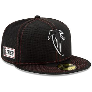 Atlanta Falcons New Era 2019 NFL Sideline Road Official Historic Logo 59FIFTY Fitted Hat – Black