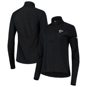 Atlanta Falcons Nike Women's Performance Half-Zip Core Jacket – Black