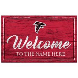 Atlanta Falcons  Personalized Team Color Welcome Sign