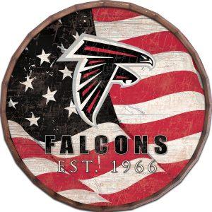 Atlanta Falcons Flag Barrel Top Sign