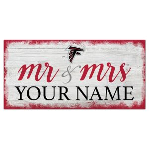 Atlanta Falcons Personalized Mr. & Mrs. Script Sign