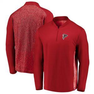 Men's Atlanta Falcons Red Modern Quarter-Zip Jacket