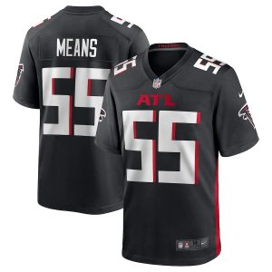 Men's Atlanta Falcons Steven Means Nike Black Game Jersey